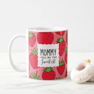 Mamma-Erdbeeren der Mutter süßeste Tages Kaffeetasse