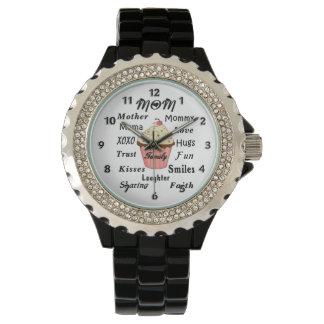 Mamma-Familien-kleine Kuchen Armbanduhr