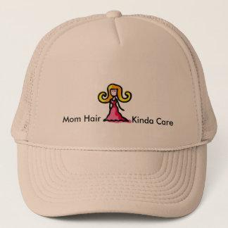 Mamma-Haar-ein bisschen Sorgfalt-Hut Truckerkappe