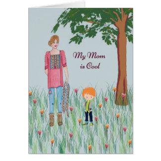 Mamma ist coole Geburtstags-Karte vom jungen Sohn Karte