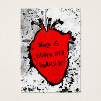 Mamma ist, wo das anatomische Herz ist Visitenkarte