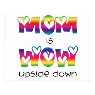 Mamma ist wow postkarte