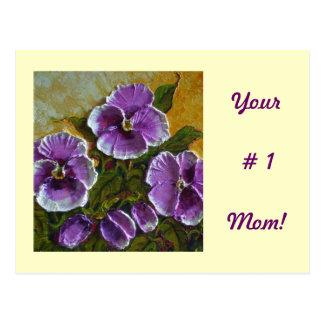 """Mamma"""" lila Pansy """"der Nr.-1 Postkarte"""
