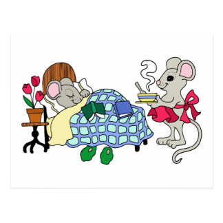 Mamma-Maus kümmerte sich für krankes Kind Postkarte