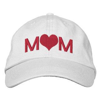 Mamma mit Herzen Bestickte Baseballkappe