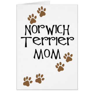Mamma Norwichs Terrier für Hundemammen Norwichs Karte