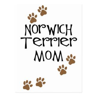 Mamma Norwichs Terrier für Hundemammen Norwichs Postkarte