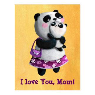 Mamma-Panda mit ihrem Kind Postkarten