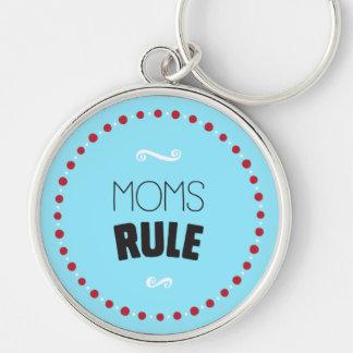 Mamma-Regel Keychain - Blau Schlüsselanhänger