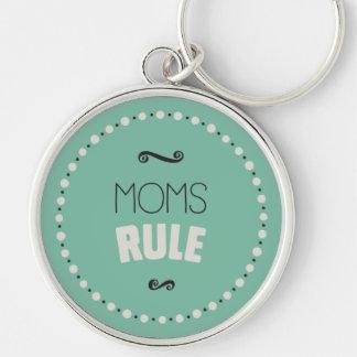 Mamma-Regel Keychain - Grün Schlüsselanhänger
