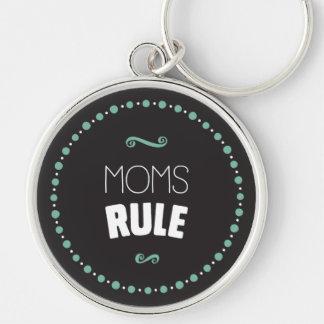 Mamma-Regel Keychain - Schwarzes Schlüsselanhänger