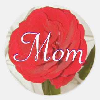 Mamma-Rosen-Aufkleber Runder Aufkleber