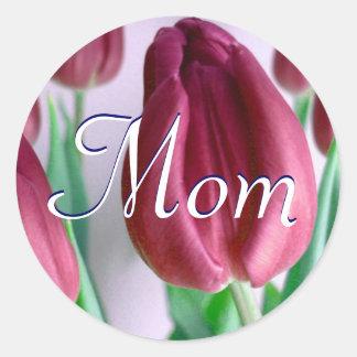 Mamma Rosey Tulpe-Aufkleber Runder Aufkleber