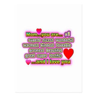 Mamma… sind Sie #1 Postkarte