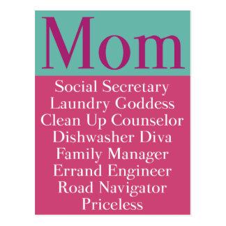 Mamma - Tages-oder der Geburtstags-Karte der Postkarten