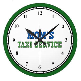 Mamma-Taxi-Service Große Wanduhr