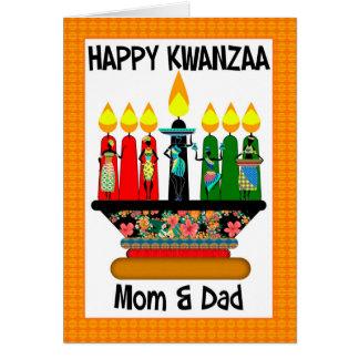 Mamma u. Vati, Kwanzaa-Kerzen und sortierte Frauen Karte