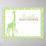 Mamma-und Baby-Giraffen-Babyparty-Willkommensschil Plakate