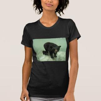Mamma und Junges des schwarzen Bären T-Shirt