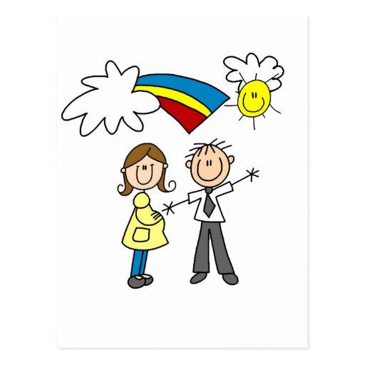 Mamma und Vati, zum T-Shirts und Geschenke zu sein Postkarte