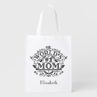 Mamma-Vintages personalisiertes der Welt der Wiederverwendbare Einkaufstasche