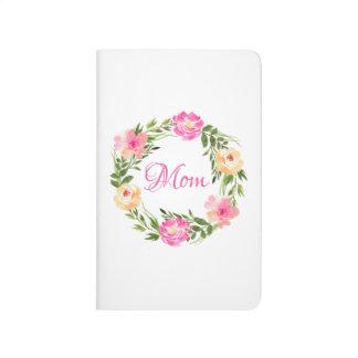 Mamma-weibliche Blumenmamapersonalisierter Taschennotizbuch
