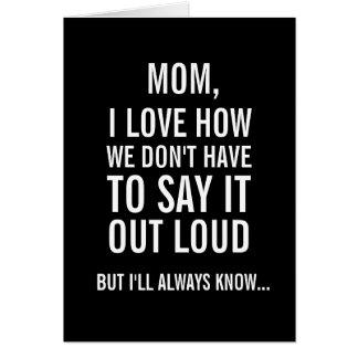 Mamma, weiß ich immer… Lustige Karte der Mutter