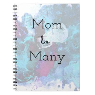 Mamma zu vielen notizblock