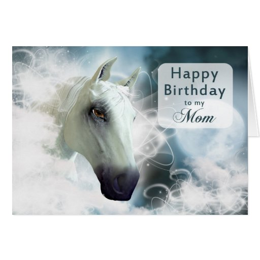 Mammageburtstag, arabisches Pferd Karte