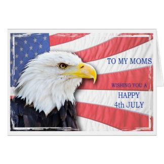 Mammen, am 4. Juli mit einem Weißkopfseeadler und Grußkarte