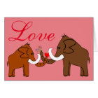 Mammoths in Love Karte