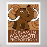 Mammutanteile Plakatdruck