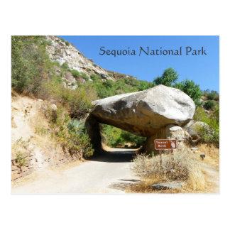 Mammutbaum-Nationalpark/Tunnel-Felsen-Postkarte! Postkarte