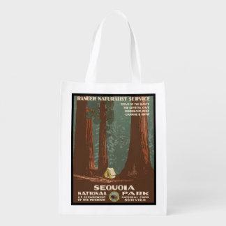 Mammutbaum-Nationalpark Wiederverwendbare Einkaufstasche
