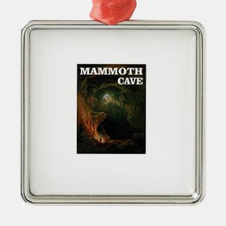 Mammuthöhlenbraun Silbernes Ornament
