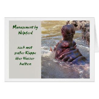 Management by Nilpferd Grußkarte
