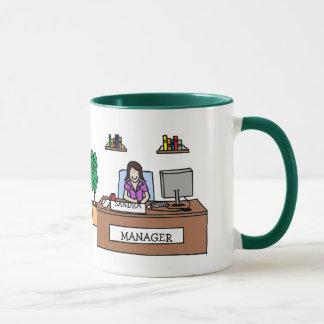Manager - personalisierte Cartoon-Tasse Tasse