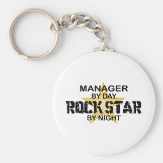 Manager-Rockstar bis zum Nacht Standard Runder Schlüsselanhänger