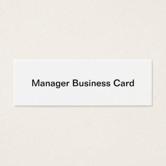 Manager-Visitenkarte Mini Visitenkarte