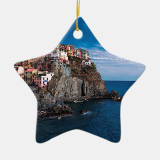 Manarola, cinque terre. Italien Keramik Ornament