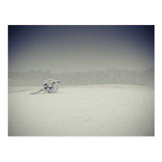 Manassas Schlachtfeld-Kanone im Schnee Postkarte