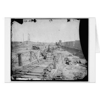 Manassas, VA. Orange und Alexandria-Eisenbahn Karte