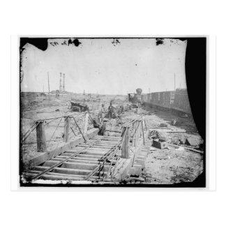Manassas, VA. Orange und Alexandria-Eisenbahn Postkarte