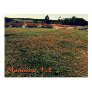 Manassas, VA Postkarte
