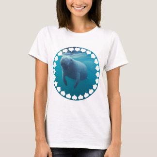 Manatis-Damen-angepasster T - Shirt