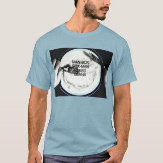 MANBOX gebackenes Bohnen T-Shirt Blau