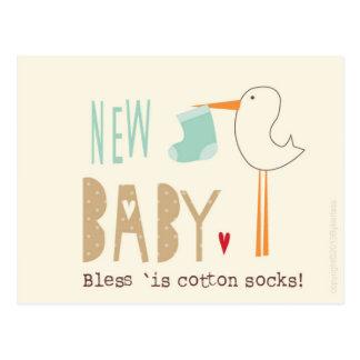 Manc Karte - neues Baby segnen 'ist Baumwollsocken