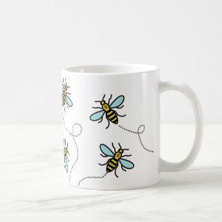 Manchester-Arbeitskraft-Bienen-klassische weiße Kaffeetasse