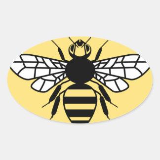 Manchester-Biene Ovaler Aufkleber