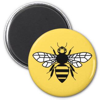 Manchester-Biene Runder Magnet 5,7 Cm